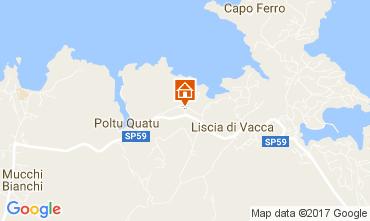 Karte Porto Cervo Appartement 107657