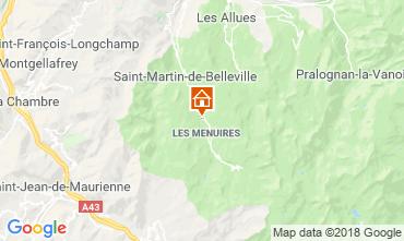 Karte Les Menuires Chalet 116653