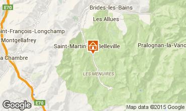 Karte Saint Martin de Belleville Chalet 2665