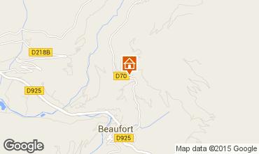Karte Areches Beaufort Appartement 360