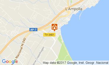 Karte L'Ampolla Villa 112078