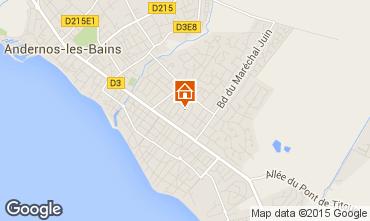 Karte Andernos les Bains Haus 10182