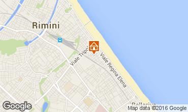 Karte Rimini Appartement 100445