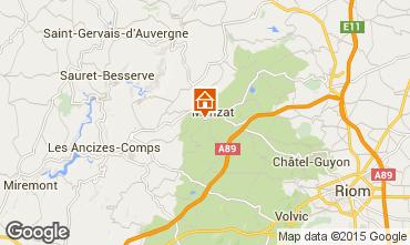 Karte Chatel-Guyon Ferienunterkunft auf dem Land 13600