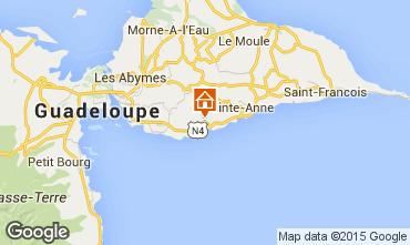 Karte Gosier (Guadeloupe) Außergewöhnliches Fremdenzimmer 93210