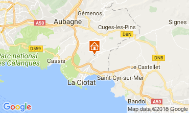 Karte La Ciotat Ferienunterkunft auf dem Land 113490