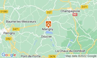 Karte Clairvaux-les-Lacs Ferienunterkunft auf dem Land 97963