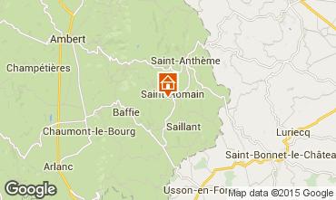 Karte Saint-Anthème Ferienunterkunft auf dem Land 85778