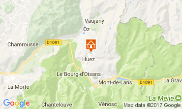 Karte Alpe d'Huez Appartement 64