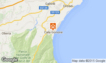 Karte Cala Gonone Appartement 90605