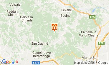 Karte Siena Ferienunterkunft auf dem Land 109624