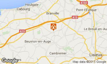 Karte Deauville Ferienunterkunft auf dem Land 16945