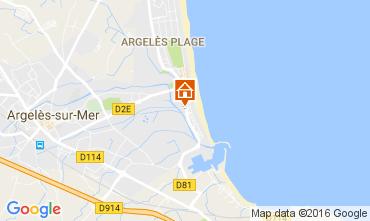 Karte Argeles sur Mer Appartement 19225