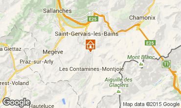 Karte Saint Gervais Mont-Blanc Appartement 2560