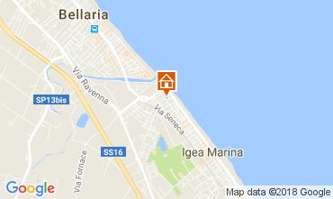Karte Bellaria Igea Marina Appartement 45702
