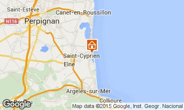 Karte Saint Cyprien Plage Appartement 56695