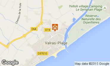 Karte Valras-Plage Mobil-Home 84865
