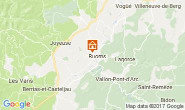 Karte Vallon-Pont-D'Arc Ferienunterkunft auf dem Land 112484