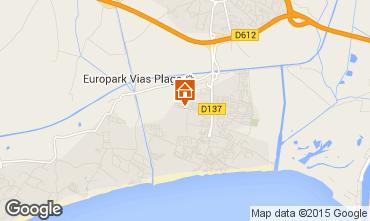 Karte Vias Plage Mobil-Home 10050