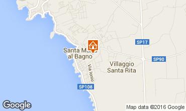 Karte Santa Maria al Bagno Appartement 35415