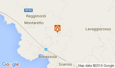 Karte Bonassola Appartement 78393