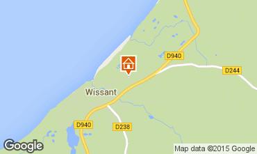 Karte Wissant Ferienunterkunft auf dem Land 8900