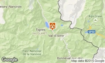 Karte Val d'Isère Studio 28190