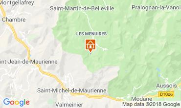 Karte Les Menuires Studio 1628