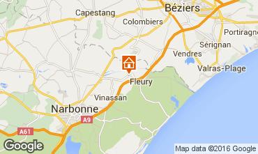 Karte Salles-d'Aude Ferienunterkunft auf dem Land 101044