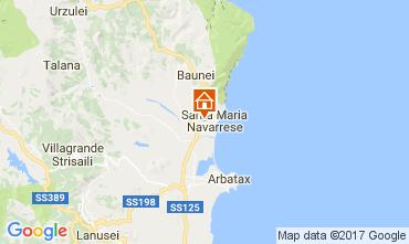 Karte Santa Maria Navarrese Villa 110022