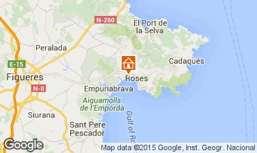 Karte Rosas Appartement 50542
