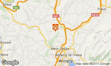 Karte Annecy Ferienunterkunft auf dem Land 58013