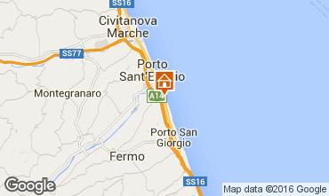 Karte Porto San Giorgio Mobil-Home 86295
