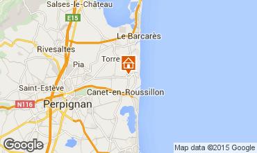 Karte Argeles sur Mer Ferienunterkunft auf dem Land 8683