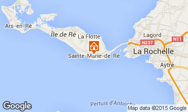 Karte Sainte Marie de Ré Haus 97376