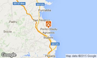 Karte San Teodoro Appartement 80905