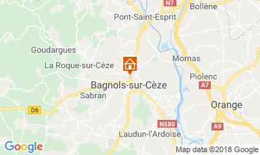 Karte Bagnols sur Cèze Ferienunterkunft auf dem Land 116366
