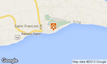 Karte Saint Francois Appartement 82732
