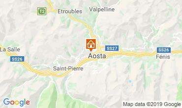 Karte Aosta Appartement 75618