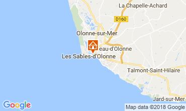 Karte Les  Sables d'Olonne Appartement 114771
