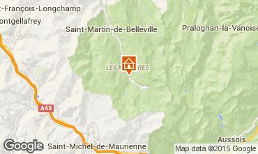 Karte Les Menuires Chalet 101541