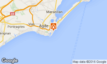 Karte Cap d'Agde Studio 102496