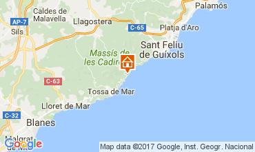 Karte Lloret de Mar Appartement 50869