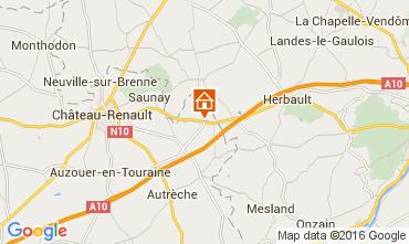 Karte Amboise Fremdenzimmer 85866