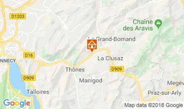 Karte La Clusaz Appartement 117583