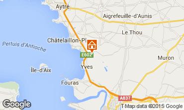 Karte Châtelaillon plage Fremdenzimmer 56831