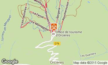 Karte Orcières Merlette Studio 38824
