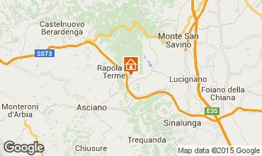 Karte Rapolano Terme Appartement 69682