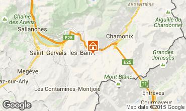 Karte Chamonix Mont-Blanc Chalet 27606