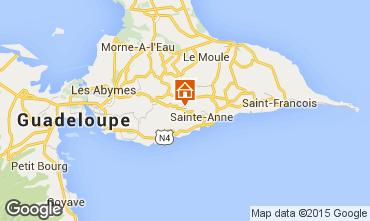 Karte Sainte Anne (Guadeloupe) Ferienunterkunft auf dem Land 60117